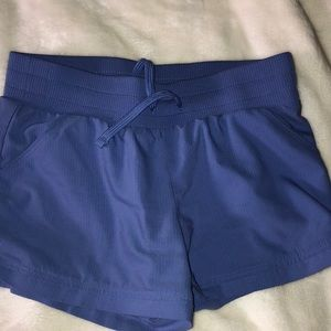 purple lavender active shorts